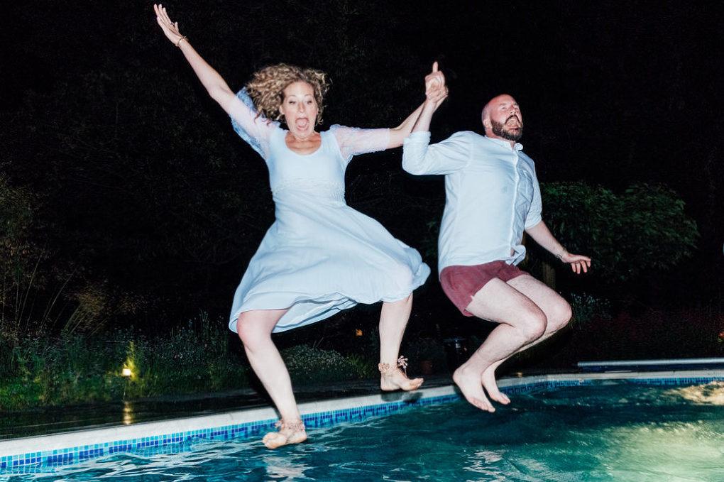 Back garden wedding pool party-94